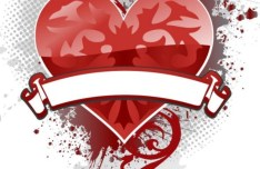 Creative Poker Playing Card Heart Design Vector