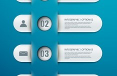 Fashion Infographic Number Options Design Elements Vector 03