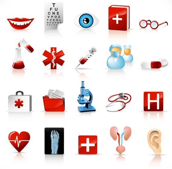 Free Set Of Vector Medical Supplies Icons Titanui