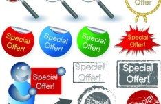 Set Of Vector Special Offer Label Stickers