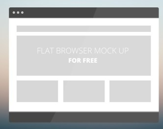 Flat Web Browser PSD Mockup