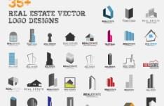 Set Of Vector Real Estate Logos