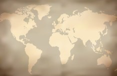 Vector Old World Map 02