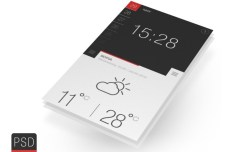 Weather and Time Widget PSD