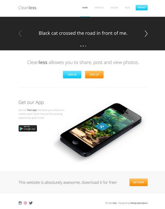 Clean Landing Page Web Template PSD