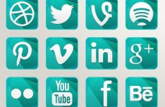Green Crystal Social Icons Pack