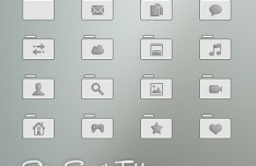 Shiny Smooth Folders Icons