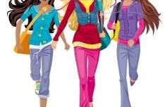 Vector Fashion City Girls Illustration 01