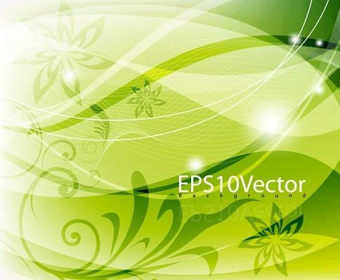 Fresh Swirl Floral Background Vector 01