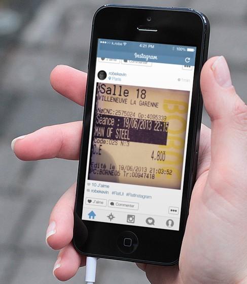 iOS 7 Instagram App Resign PSD