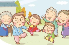 Cartoon Happy Family Illustration Vector
