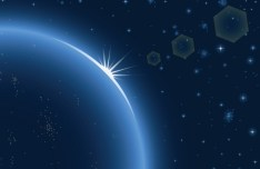 Blue Science Space Background Vector 01