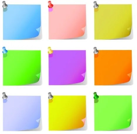 Free Set Of Colorful Blank Sticky Notes Vector TitanUI – Sticky Note Template