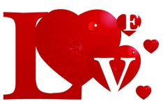 Vector Creative Red Love Design
