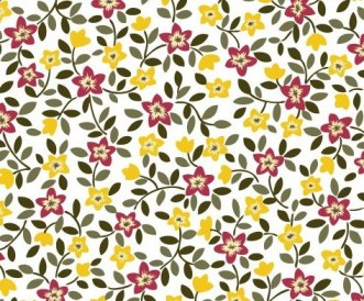 Vector Small Flower Pattern Background 03