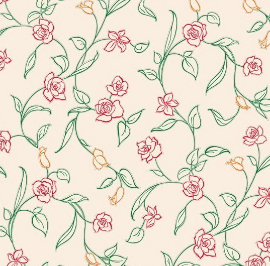 Free Vector Small Flower Pattern Background 04 TitanUI