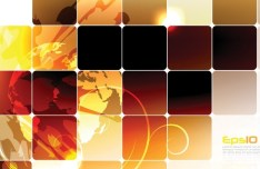 Abstract Colored Blocks Background Vector 02