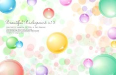 Beautiful Colored Bubbles Background Vector 01