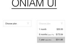 Oniam - A Clean and Flat Style Web UI Kit