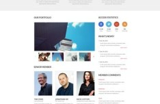 Business Website PSD Template