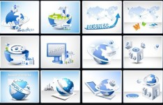 Set Of Vector Business Technology Design Elements 02