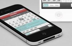 iPhone Calendar APP UI PSD