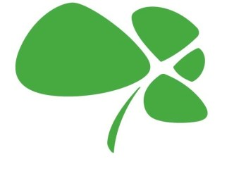 Flat Abstract Four-Leaf Clover Design Vector
