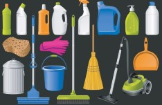 Set Of Clean House Cleaning Icons Vector 02
