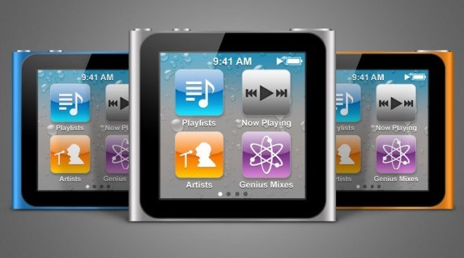 iPod Nano Touch PSD Mockup