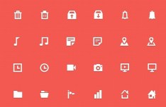 30+ Mini Web Icons PSD