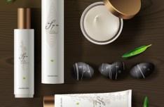 Set Of Vector Herbal SPA Design Elements