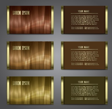 Set of Glossy Business Cards with Abstract Backgrounds Vector 02