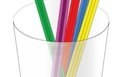 Colored Pencils and Pencil Vase Vector