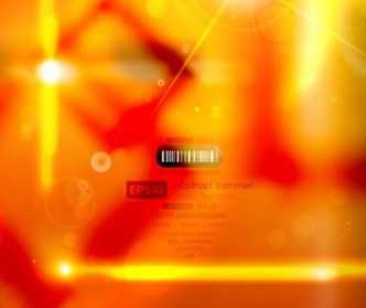 Orange Hot Summer Sunshine Background Vector