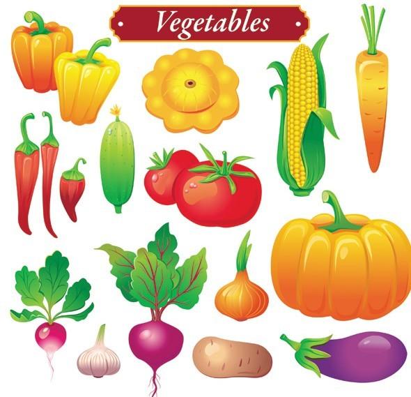 Free Set Of Vector Fresh Green Vegetables 02 - TitanUI