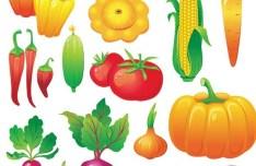 Set Of Vector Fresh Green Vegetables 02