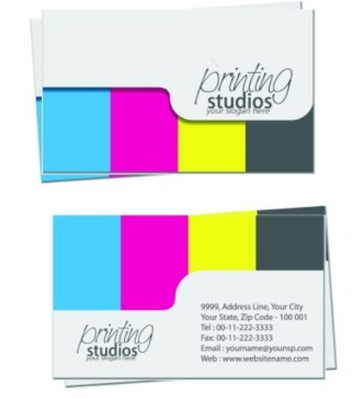 Simple and Clean Business Card Design Vector 02