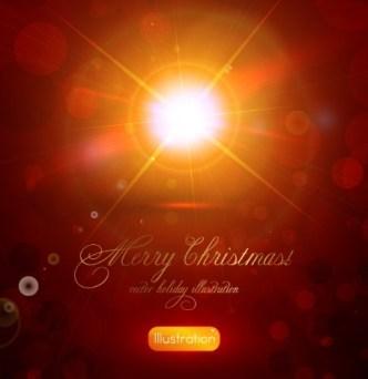Vector Merry Christmas Sunshine Illustration