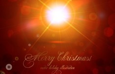 Vector Merry Christmas Sunshine Illustration