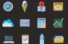 12+ Colorful Flat Icons PSD
