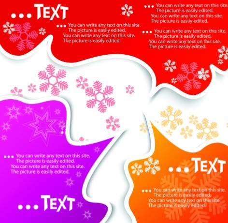 Lovely Christmas Speech Bubbles with Snowflake Backgrounds 04