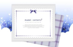 Set Of Lovely Invitation Card Templates Vector