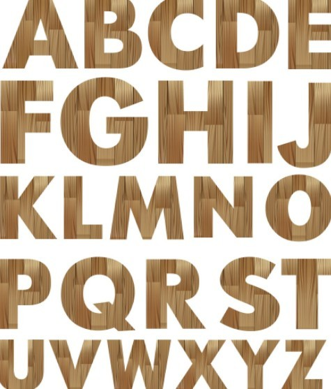 Wooden English Alphabet