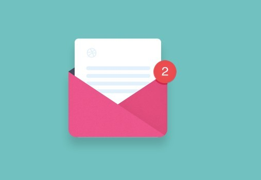 Pink Envelope Icon PSD