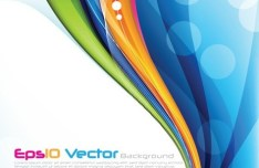 Vector Colorful Abstract Curves and Halos Background 02