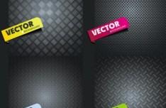 4 Sleek Metal Vector Backgrounds