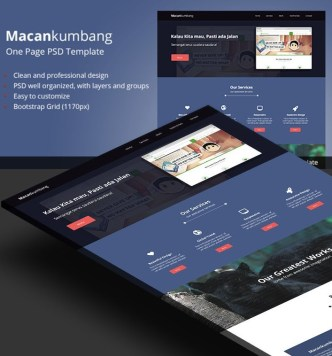 Macankumbang Free One Page Website Template PSD