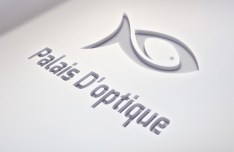 Palais Doptique Logo PSD Mockup