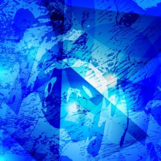 Blue Abstract Shapes Background Vector 03