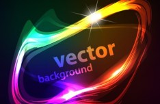 Bright Colored Vector Frame